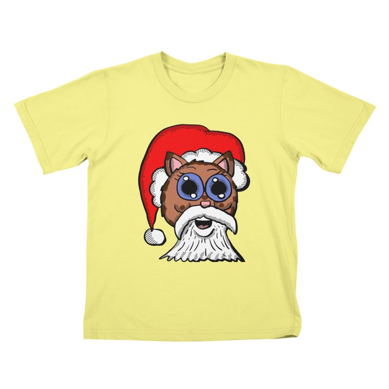 Santa Kitty Kids T-shirt by ericallen's Artist Shop