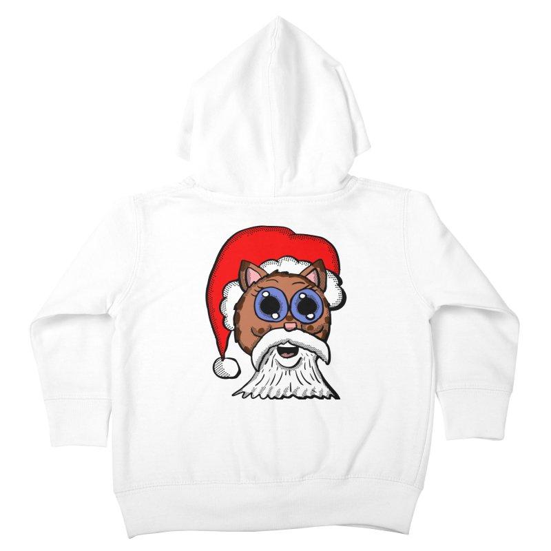 Santa Kitty Kids Toddler Zip-Up Hoody by ericallen's Artist Shop