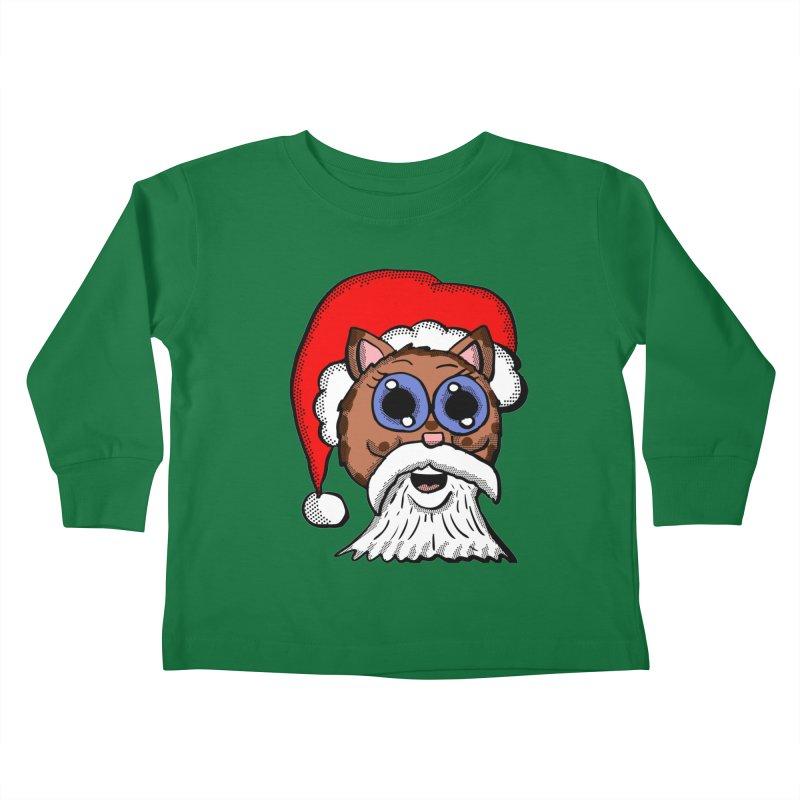 Santa Kitty Kids Toddler Longsleeve T-Shirt by ericallen's Artist Shop