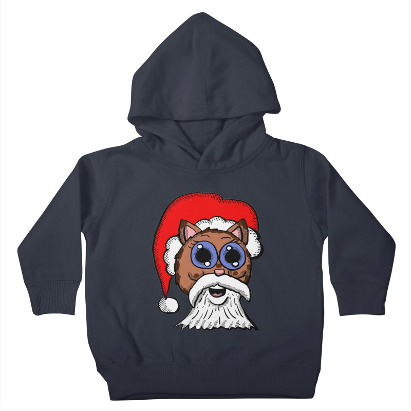 Santa Kitty Kids Toddler Pullover Hoody by ericallen's Artist Shop