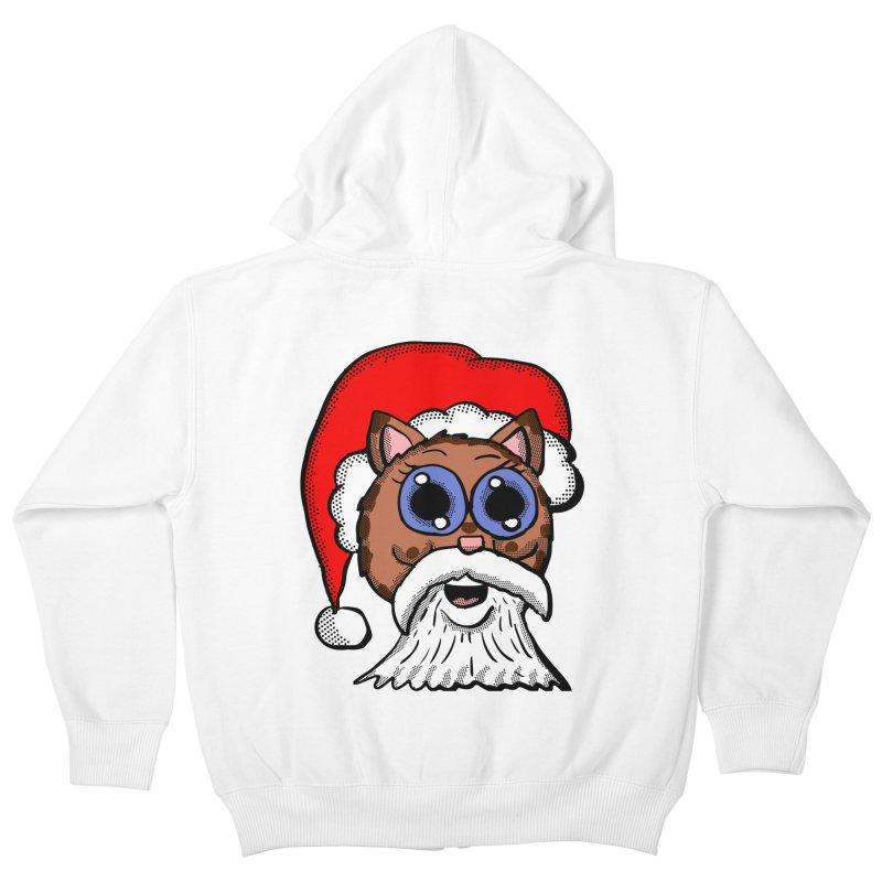Santa Kitty Kids Zip-Up Hoody by ericallen's Artist Shop
