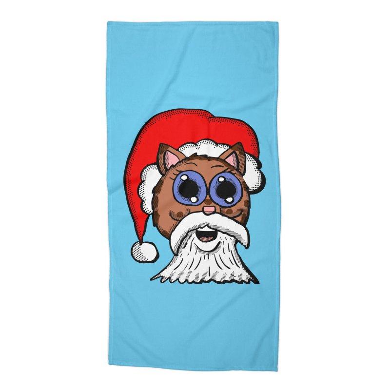 Santa Kitty Accessories Beach Towel by ericallen's Artist Shop