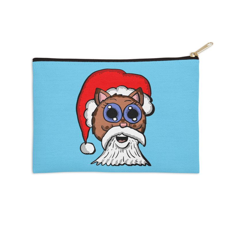 Santa Kitty Accessories Zip Pouch by ericallen's Artist Shop