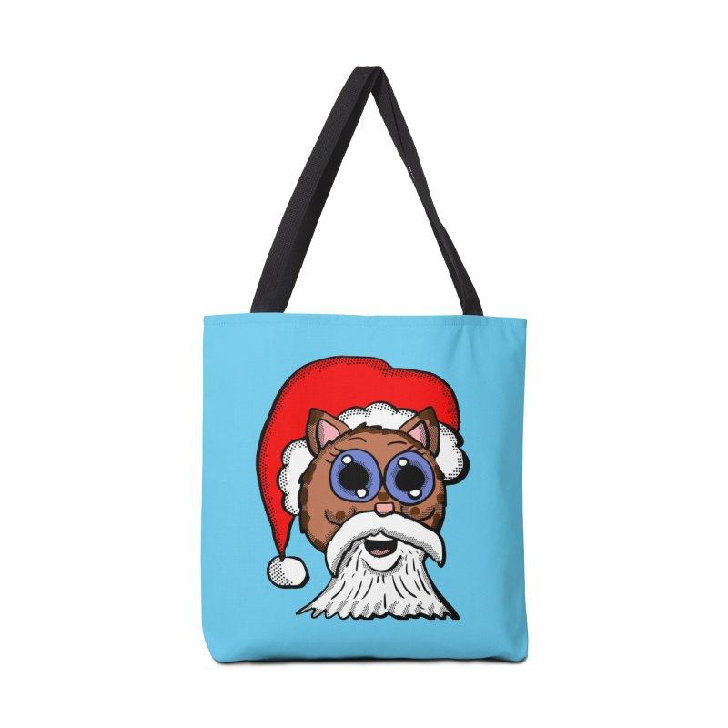 Santa Kitty Accessories Bag by ericallen's Artist Shop