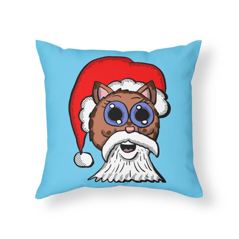 Santa Kitty Home Throw Pillow by ericallen's Artist Shop