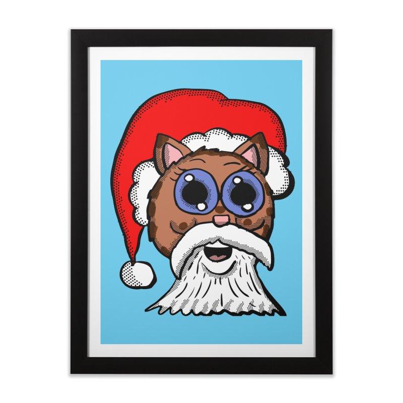 Santa Kitty Home Framed Fine Art Print by ericallen's Artist Shop