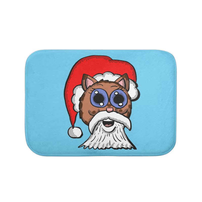 Santa Kitty Home Bath Mat by ericallen's Artist Shop