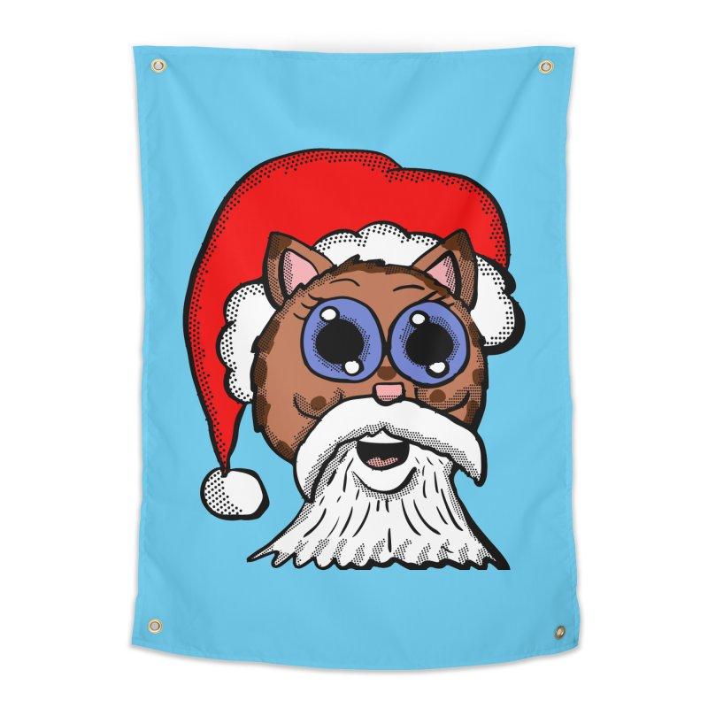 Santa Kitty Home Tapestry by ericallen's Artist Shop