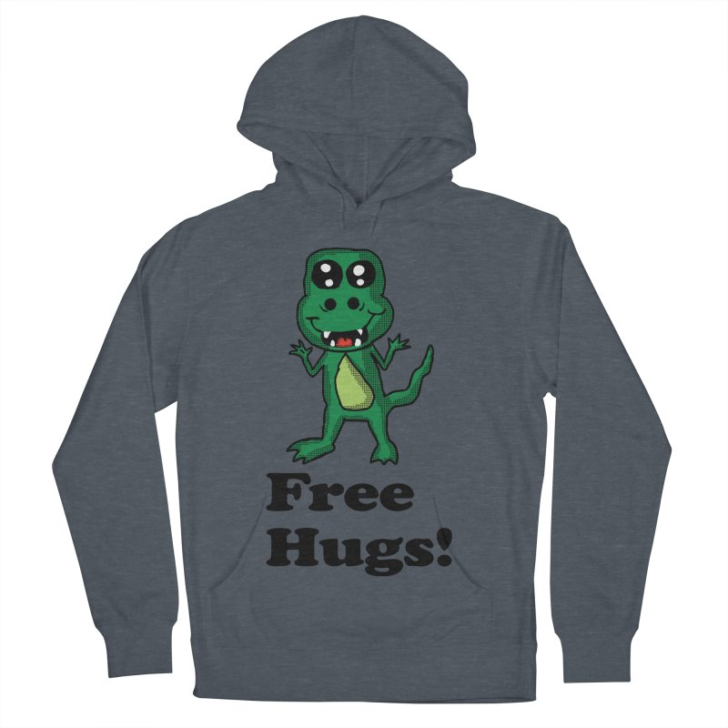 Free Hugs T-Rex Men's Pullover Hoody by ericallen's Artist Shop