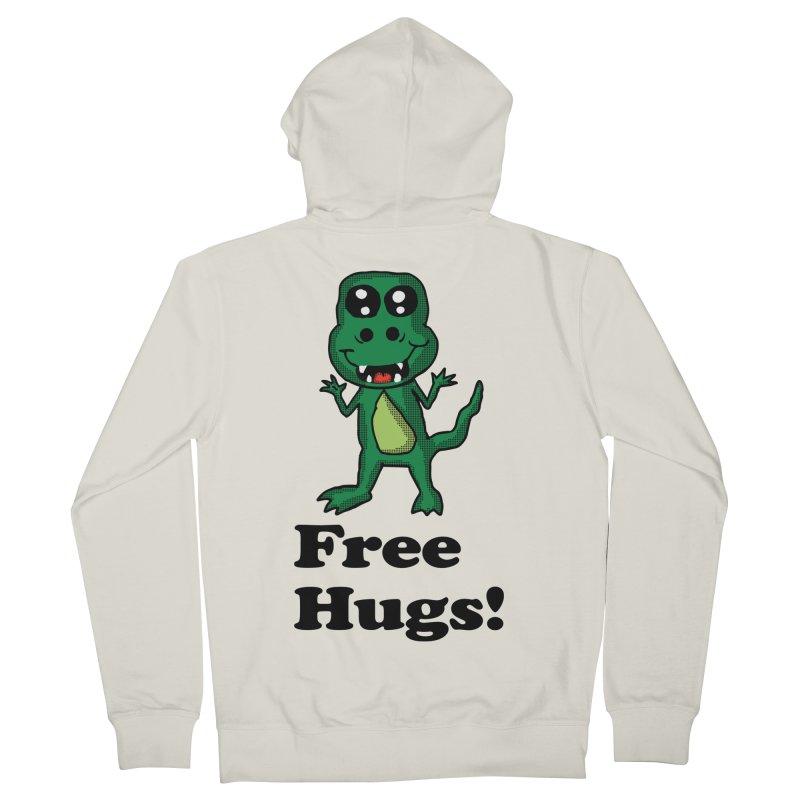 Free Hugs T-Rex Women's Zip-Up Hoody by ericallen's Artist Shop