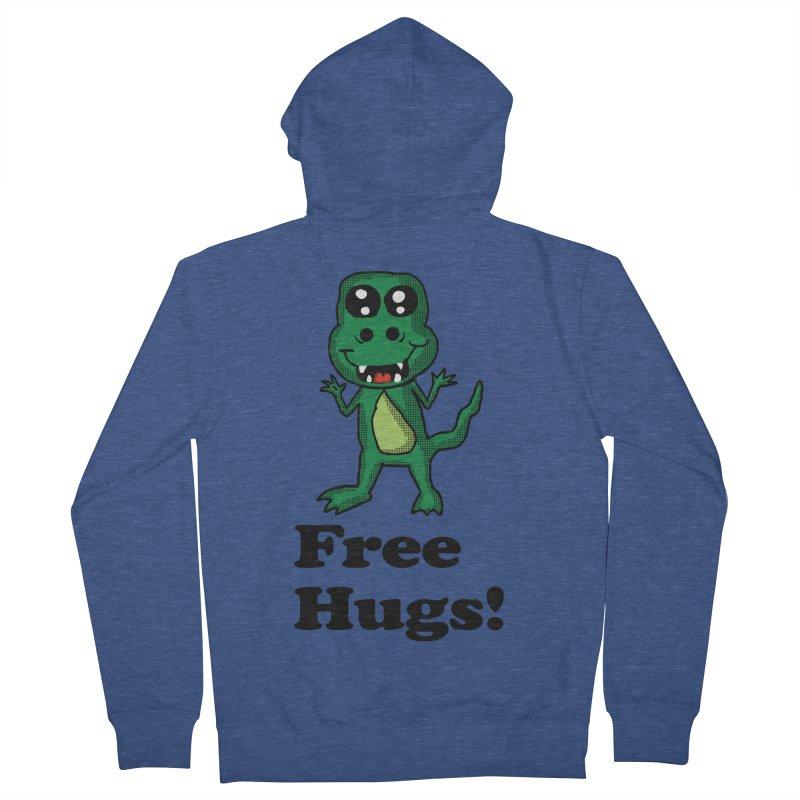 Free Hugs T-Rex Men's Zip-Up Hoody by ericallen's Artist Shop