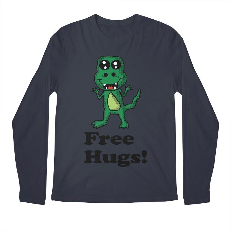 Free Hugs T-Rex Men's Longsleeve T-Shirt by ericallen's Artist Shop