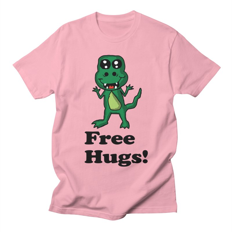 Free Hugs T-Rex Women's Unisex T-Shirt by ericallen's Artist Shop