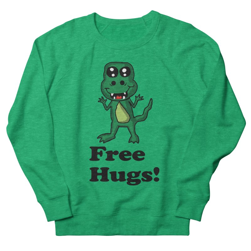Free Hugs T-Rex Men's Sweatshirt by ericallen's Artist Shop