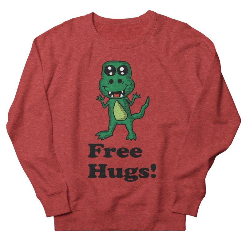 Free Hugs T-Rex Men's Sweatshirt by ericallen's Artist Shop