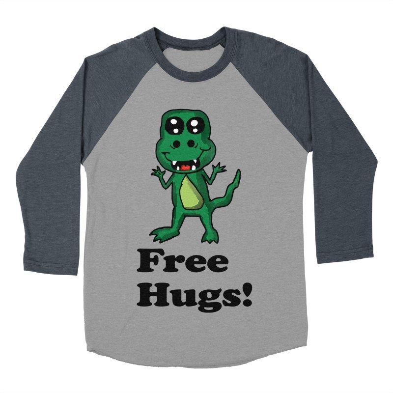 Free Hugs T-Rex Men's Baseball Triblend T-Shirt by ericallen's Artist Shop