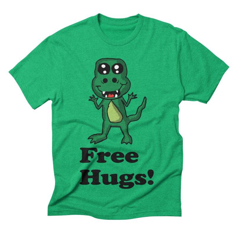 Free Hugs T-Rex Men's Triblend T-shirt by ericallen's Artist Shop