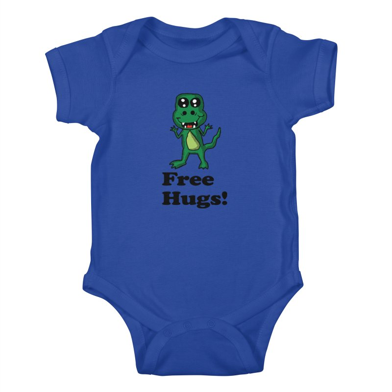 Free Hugs T-Rex Kids Baby Bodysuit by ericallen's Artist Shop