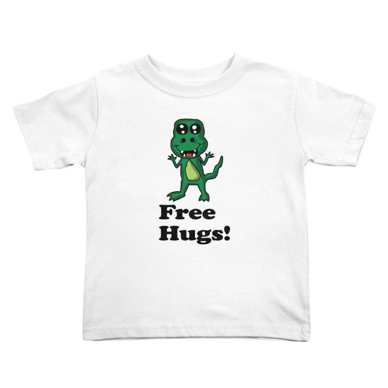 Free Hugs T-Rex Kids Toddler T-Shirt by ericallen's Artist Shop