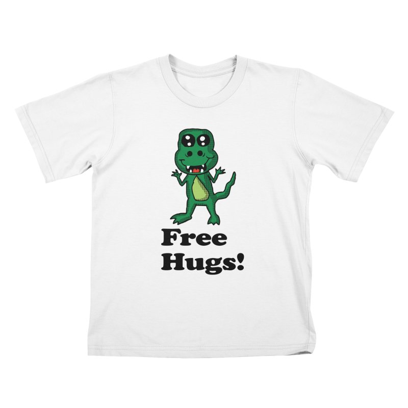 Free Hugs T-Rex Kids T-shirt by ericallen's Artist Shop