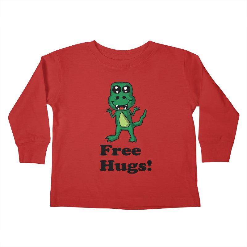 Free Hugs T-Rex Kids Toddler Longsleeve T-Shirt by ericallen's Artist Shop