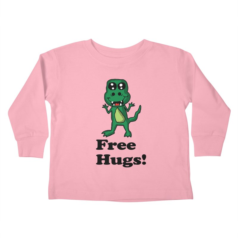 Free Hugs T-Rex Kids Toddler Longsleeve T-Shirt by ericallen's Artist Shop
