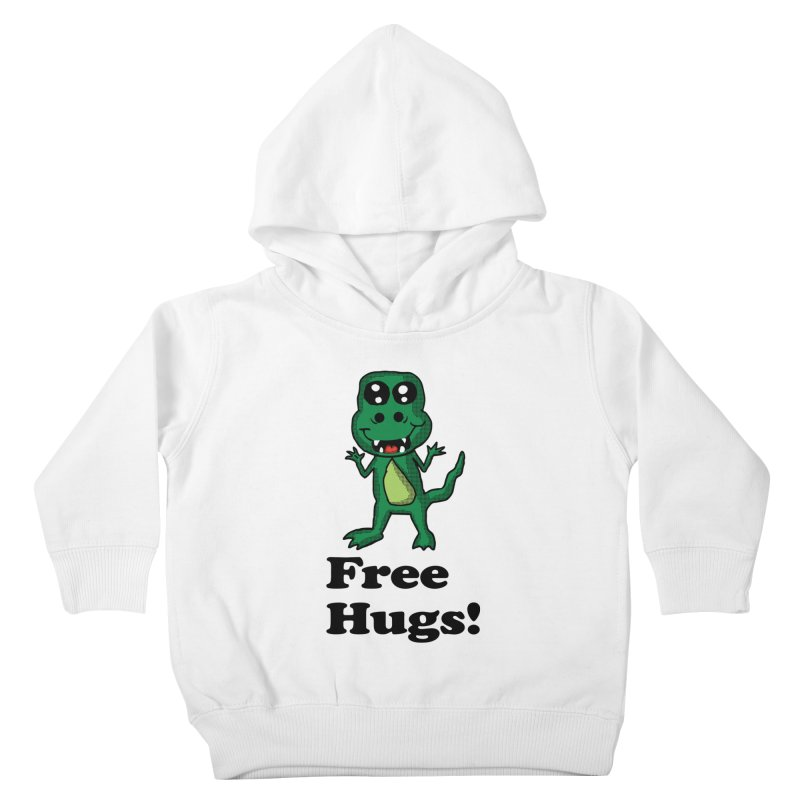 Free Hugs T-Rex Kids Toddler Pullover Hoody by ericallen's Artist Shop