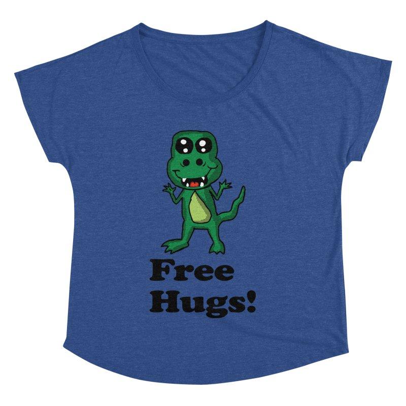 Free Hugs T-Rex Women's Dolman by ericallen's Artist Shop