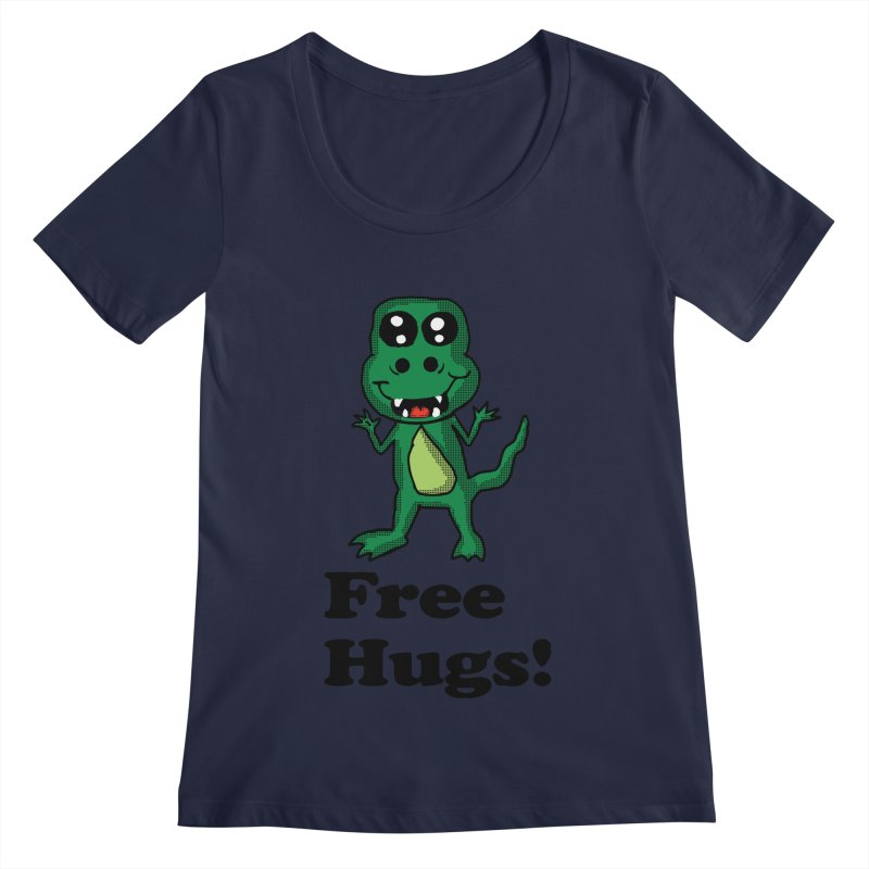 Free Hugs T-Rex Women's Scoopneck by ericallen's Artist Shop