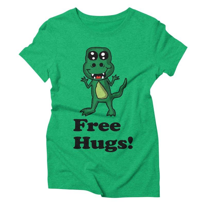 Free Hugs T-Rex Women's Triblend T-shirt by ericallen's Artist Shop