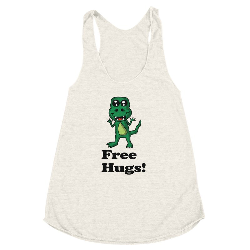 Free Hugs T-Rex Women's Racerback Triblend Tank by ericallen's Artist Shop