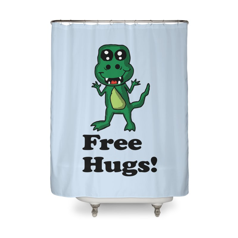 Free Hugs T-Rex Home Shower Curtain by ericallen's Artist Shop