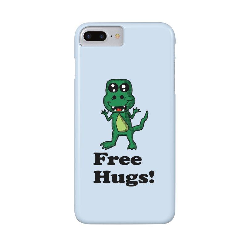 Free Hugs T-Rex Accessories Phone Case by ericallen's Artist Shop