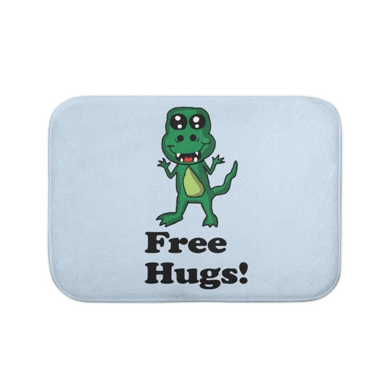 Free Hugs T-Rex Home Bath Mat by ericallen's Artist Shop