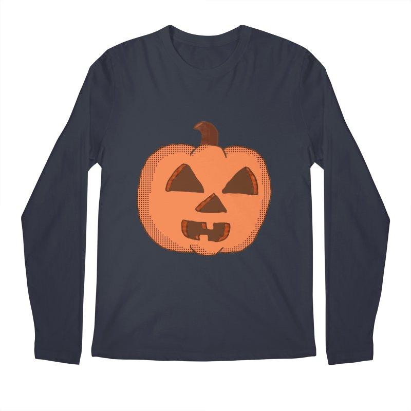 Jackolantern Vector Men's Longsleeve T-Shirt by ericallen's Artist Shop