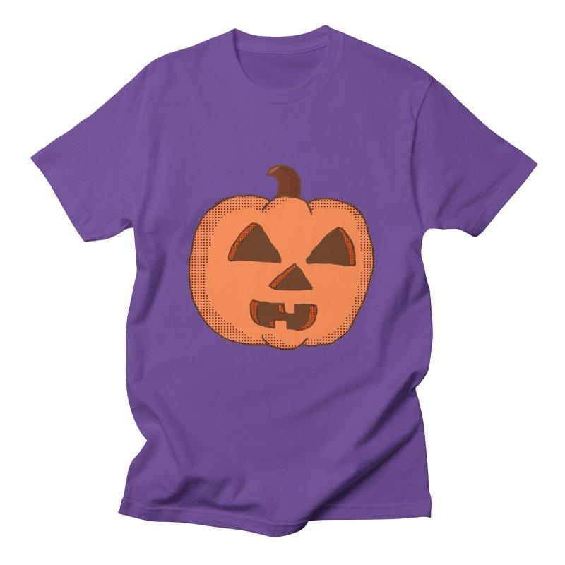 Jackolantern Vector in Men's T-shirt Purple by ericallen's Artist Shop