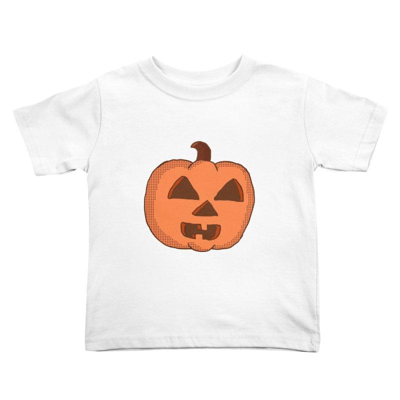 Jackolantern Vector Kids Toddler T-Shirt by ericallen's Artist Shop