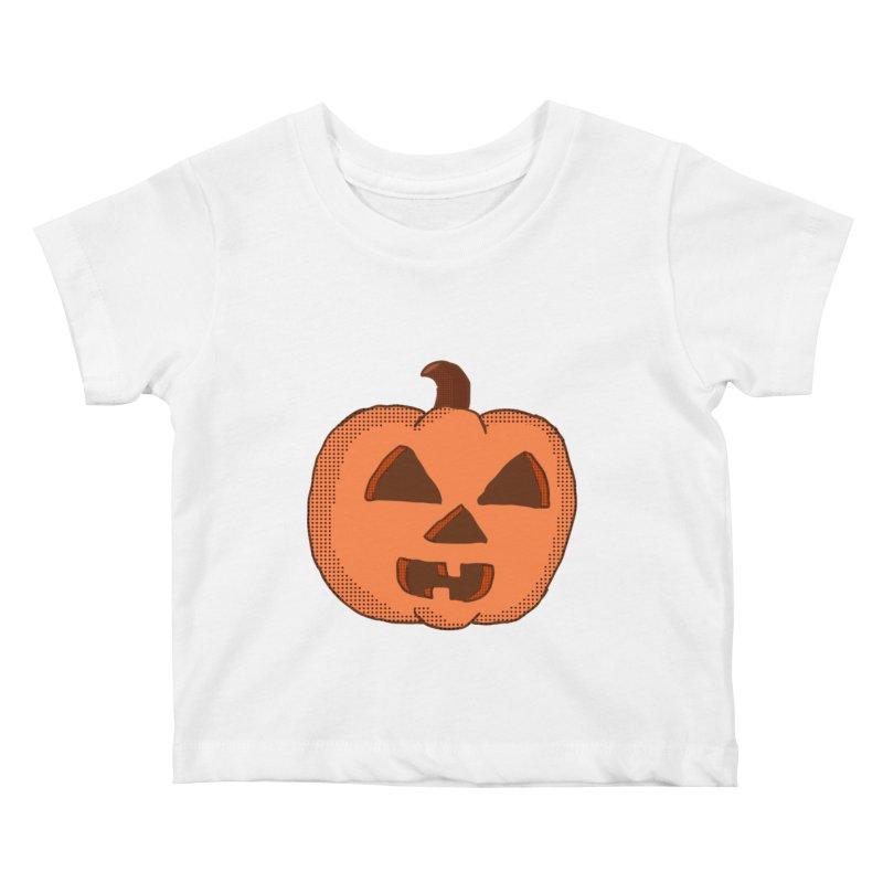Jackolantern Vector Kids Baby T-Shirt by ericallen's Artist Shop