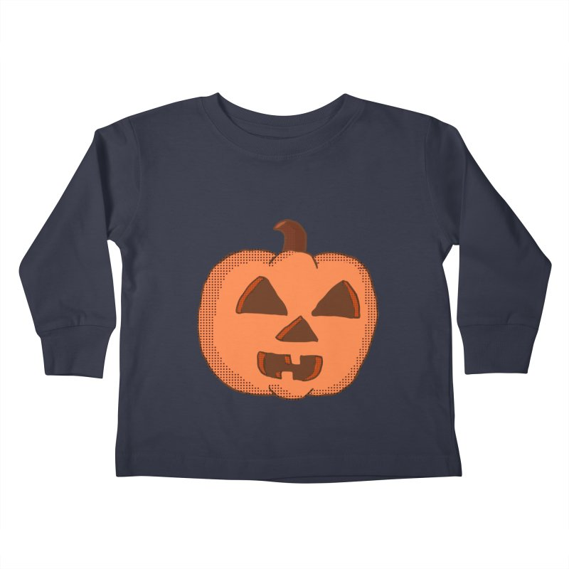 Jackolantern Vector Kids Toddler Longsleeve T-Shirt by ericallen's Artist Shop
