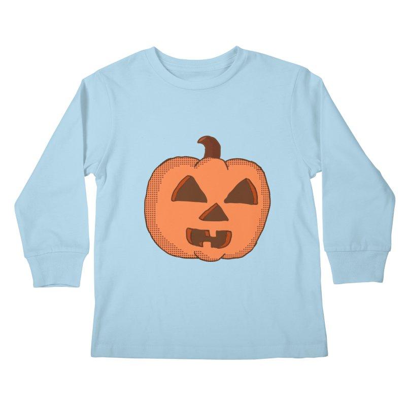 Jackolantern Vector Kids Longsleeve T-Shirt by ericallen's Artist Shop