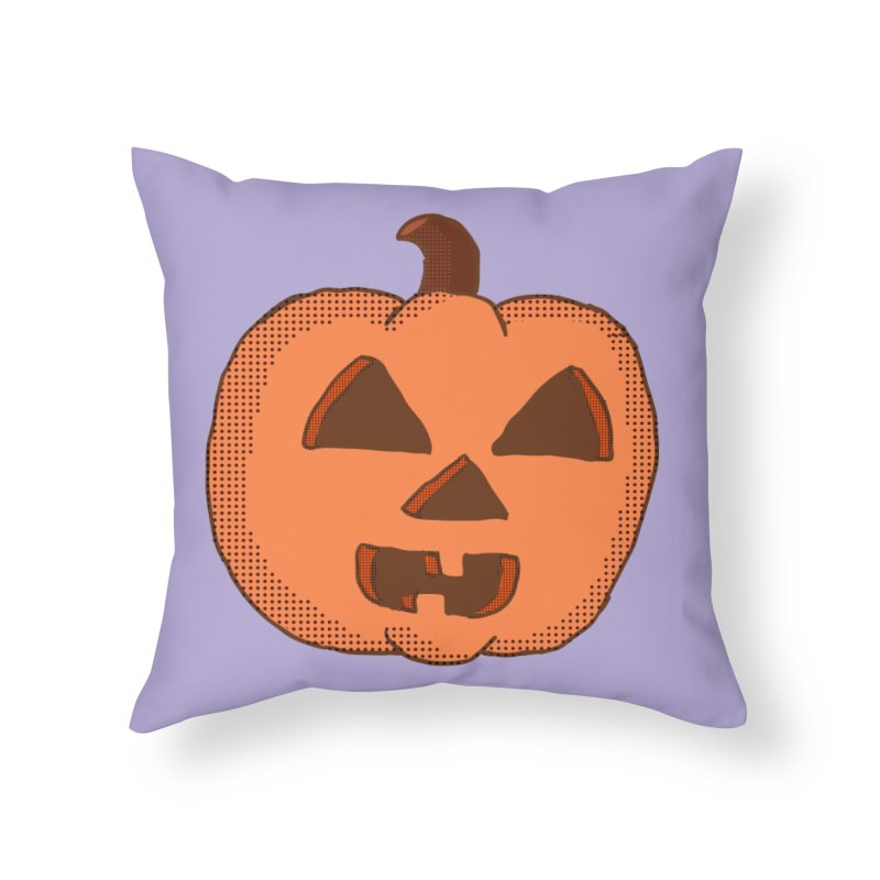 Jackolantern Vector Home Throw Pillow by ericallen's Artist Shop