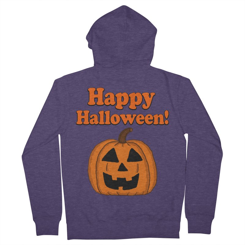 Happy Halloween Jackolantern Men's Zip-Up Hoody by ericallen's Artist Shop
