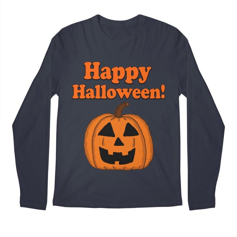 Happy Halloween Jackolantern Men's Longsleeve T-Shirt by ericallen's Artist Shop
