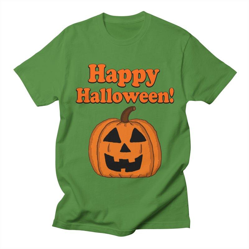 Happy Halloween Jackolantern Men's T-shirt by ericallen's Artist Shop