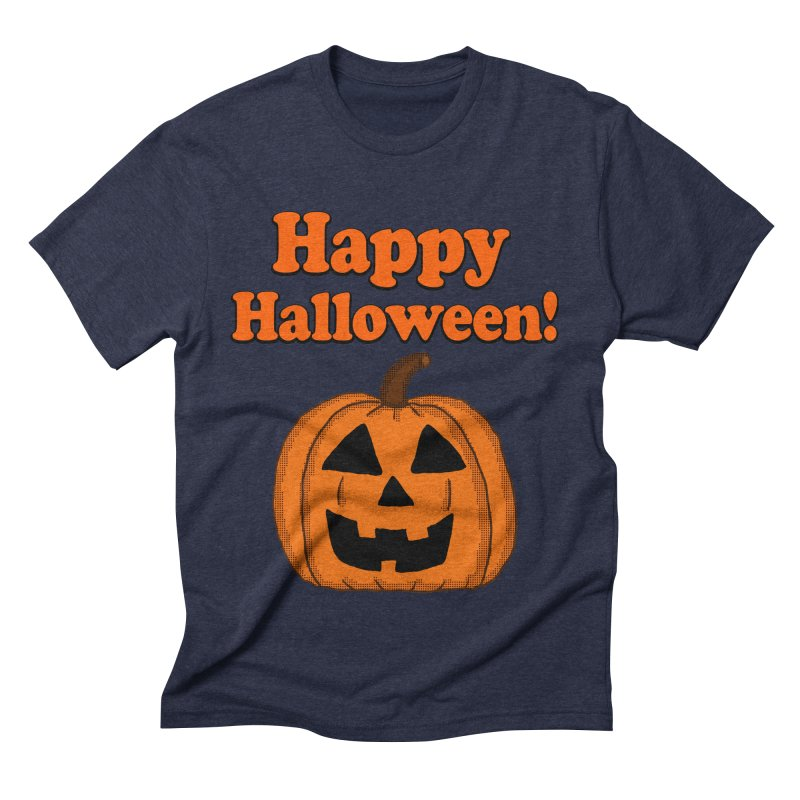 Happy Halloween Jackolantern Men's Triblend T-Shirt by ericallen's Artist Shop