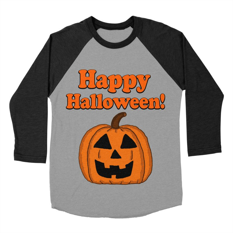 Happy Halloween Jackolantern Men's Baseball Triblend T-Shirt by ericallen's Artist Shop