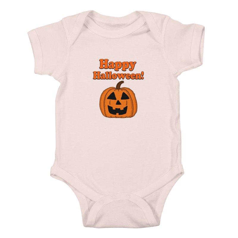 Happy Halloween Jackolantern Kids Baby Bodysuit by ericallen's Artist Shop