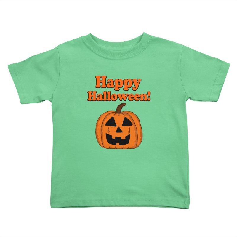 Happy Halloween Jackolantern Kids Toddler T-Shirt by ericallen's Artist Shop