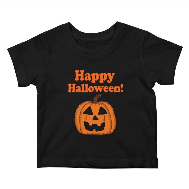 Happy Halloween Jackolantern Kids Baby T-Shirt by ericallen's Artist Shop