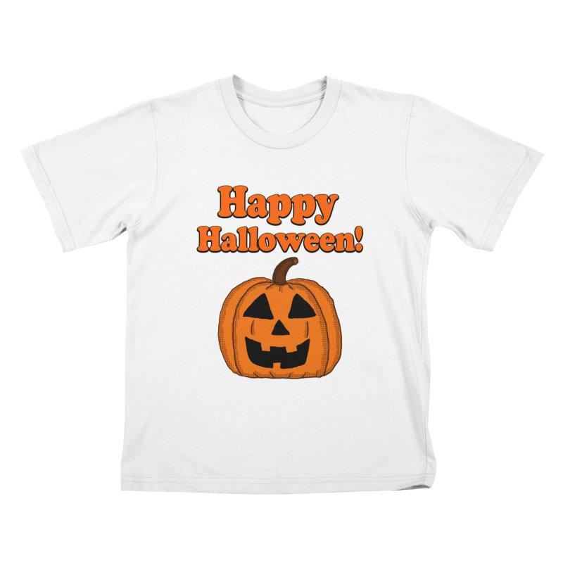 Happy Halloween Jackolantern Kids T-shirt by ericallen's Artist Shop